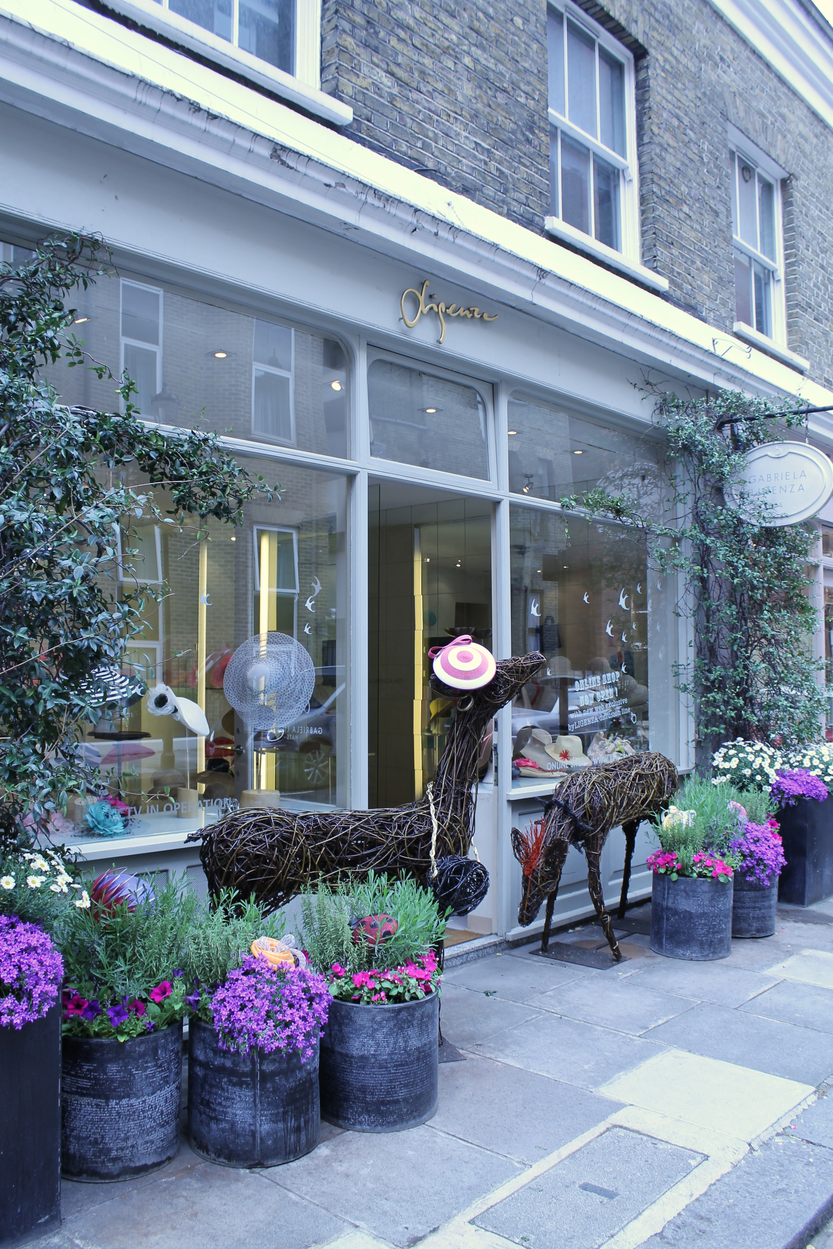 Trm teams up with emma stothard for chelsea window display gabriela ligenza hat blog the