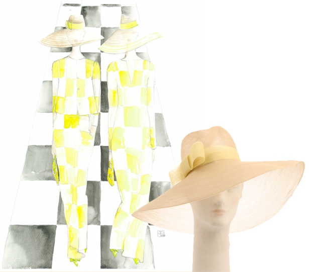 Marc Jacobs Checkers Fedora